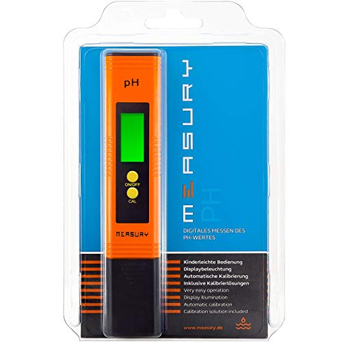 Measury pH Messgerät Wasser, pH Tester Pool - pH Wert Messgerät für Urin, pH-Wert messen Aquarium - pH Meter Digital Messer -