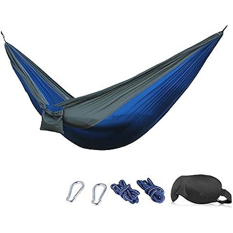 Amaca–210T Nylon per Paracadute Amaca da campeggio resistente, con mascherina