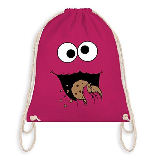 - Keks-Monster - Unisize - Fuchsia - WM110 - Turnbeutel I Gym Bag (Roten Monster Kostüme)