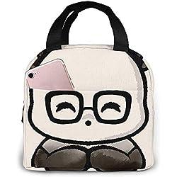 Geek Chic Panda Lonchera portátil con aislamiento Gran capacidad Fiambrera con bolsillo delantero