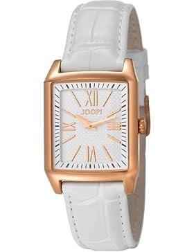 Joop JP101132F05 Motion Ladies Uhr Damenuhr Lederarmband vergoldet 30m Analog weiss