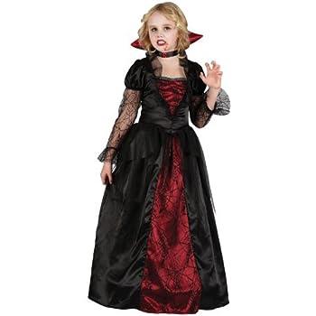 Princess Vampira Halloween Vampire Horror Childs Kids Fancy Dress Costume