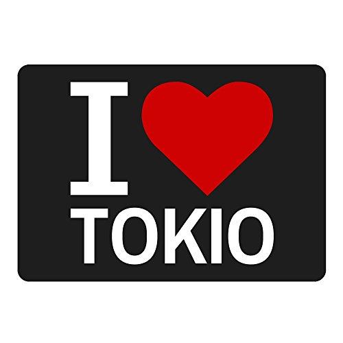 Mousepad Classic I Love Tokio schwarz