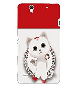 PrintDhaba Kitty D-4708 Back Case Cover for SONY XPERIA C4 (Multi-Coloured)