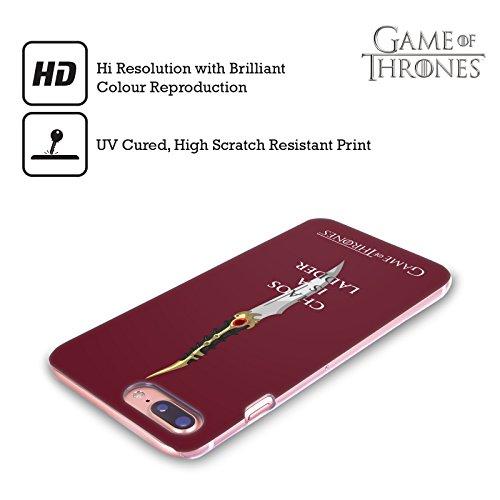 Ufficiale HBO Game Of Thrones Arya Citazioni Aghi Grafiche Cover Retro Rigida per Apple iPhone 7 Plus / 8 Plus Catspaw Chaos Scala