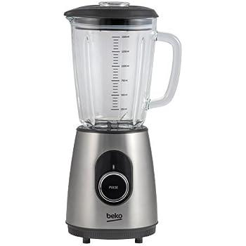 Beko TBN7802X Batidora de vaso 1.5L 800W Acero inoxidable, Transparente - Licuadora (1,5 L, Batidora de vaso, Acero inoxidable, Transparente, CE, Vidrio, ...