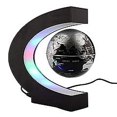 Idea Regalo - Yosoo Globo Fluttuante Levitazione C Forma Elettronico Mappamondo Magnetico Luce LED Decorazione della Casa Ufficio Regali d'Affari Studente Educazione Lampadina per Casa Ufficio Decorazione