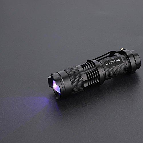 Zouminy UV Ultra LED Flashlight Blacklight Light Lámpara de inspección Antorcha con 395/365 NM365nm...
