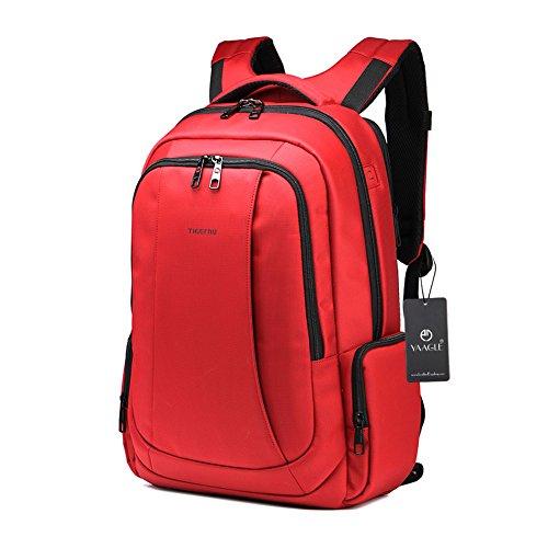 YAAGLE Laptoptasche neu Gepäck Sporttasche Damen Schüler Schultasche Herren wasserdicht Sicherheit Rucksack Reisetasche Schultertasche-silver red