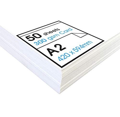 Artway Studio - Fotokarton - ideal für Präsentationen, zum Aufstellen und zum Basteln - reinweiß - 300 g/m² - A2-50Blatt
