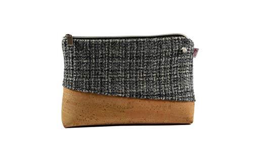 Kulturtasche Harris Tweed, handgewebt, mit Kork, große Kosmetiktasche, Necessaire (Kork-futter)