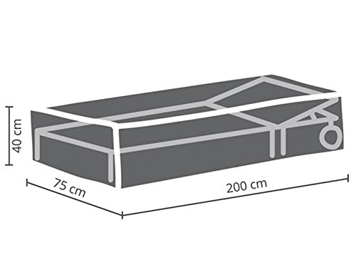Perel Garden ocsl Housse de Protection pour Bain de Soleil, Anthracite, 200 x 75 x 40 cm