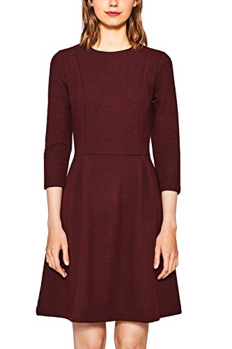 edc by ESPRIT Damen Kleid 107CC1E018 Rot (Berry Red 625), Small