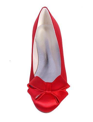 ShangYi Damenschuhe - Ballerinas - Hochzeit / Party & Festivität - Satin - Flacher Absatz - Rundeschuh -Schwarz / Blau / Rosa / Rot / Elfenbein / Pink