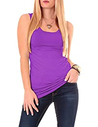 Easy Young Fashion Damen Basic Träger Longtop One Size