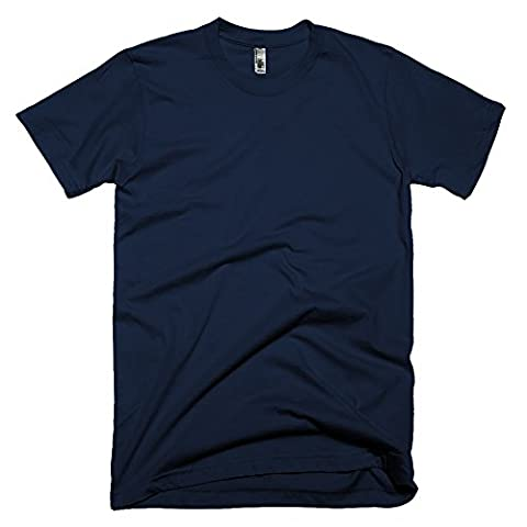 American Apparel Unisex Plain Short Sleeve Cotton T-Shirt (M) (Navy)