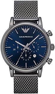 ساعة معصم انيقة للرجال من امبوريو ارماني، رمادي