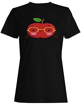 Amo las frutas divertidas de la sonrisa de la manzana camiseta de las mujeres b770f