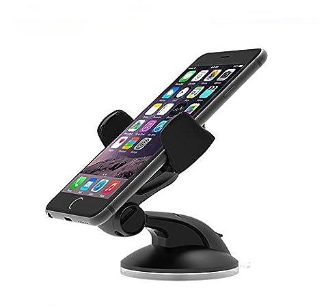 Support téléphone voiture Universel, MOACC Rotation 360degrés Support voiture pour iPhone 77Plus 6S 6S Plus, iOS, Android Smartphone