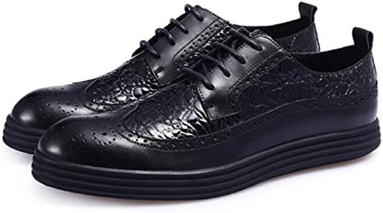 DHFUD Herrenschuhe Fruumlhling Freizeitschuhe Britische Niedrige Hilfe Plattform Schuhe