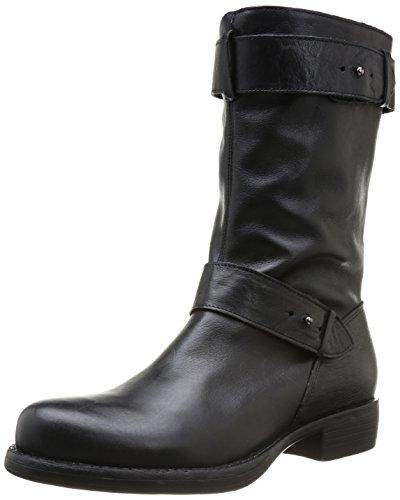 One Step Iana, Boots femme - Noir (Cuir Sauvage Noir), 37 EU