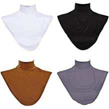 GladThink 4 X Modelo Musulmanes Collar De la Falsificación de las Mujeres Hijab Extensiones del cuello