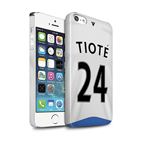 Offiziell Newcastle United FC Hülle / Glanz Snap-On Case für Apple iPhone 5/5S / Pack 29pcs Muster / NUFC Trikot Home 15/16 Kollektion Tioté
