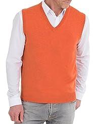Wool Overs Pull sans manches homme en cachemire et coton
