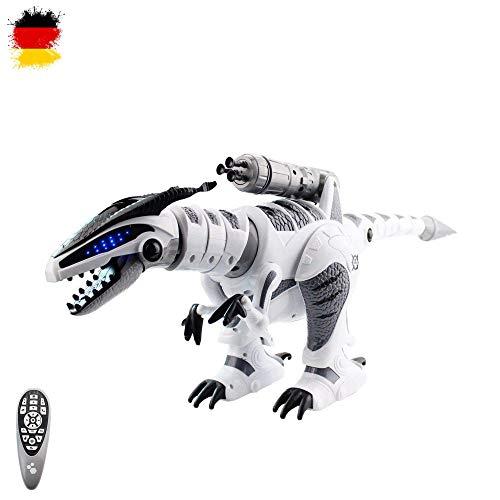 Hsp himoto xxl rc dinosauro telecomandato t-rex roboter, movimenti realistici, programmabile, funzione combattimento e con molte caratteristiche come musica, danzante e tiro, nuovo ovp