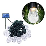 OSALADI OSALADI LED Solar String Glühbirne Outdoor wasserdicht Urlaub Dekoration bunte Lichterkette