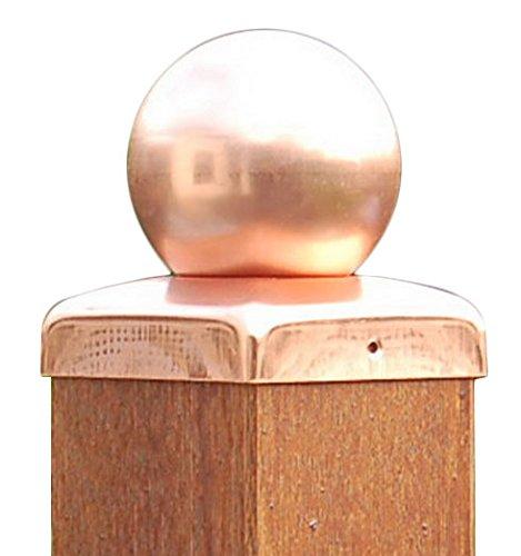 Pfostenkappen Kupfer mit Kugel für Pfosten 12x12 cm, inkl. Kupfer-Nägel - Kupfer 12