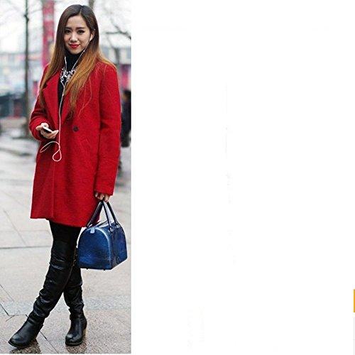 Eysee, Poschette giorno donna Rosso Zaffiro blu 26cm*18cm*8cm. White&black