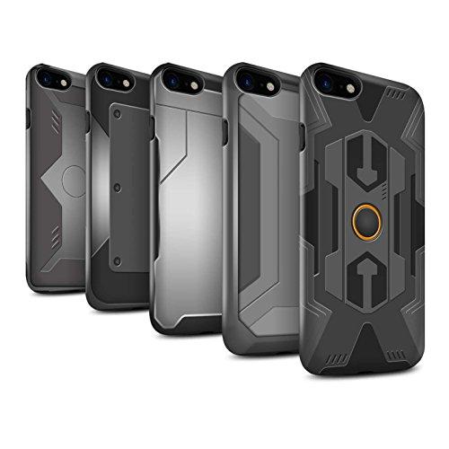 STUFF4 Glanz Harten Stoßfest Hülle / Case für Apple iPhone 7 Plus / Pack 5pcs / Rüstung Kollektion Pack 5pcs