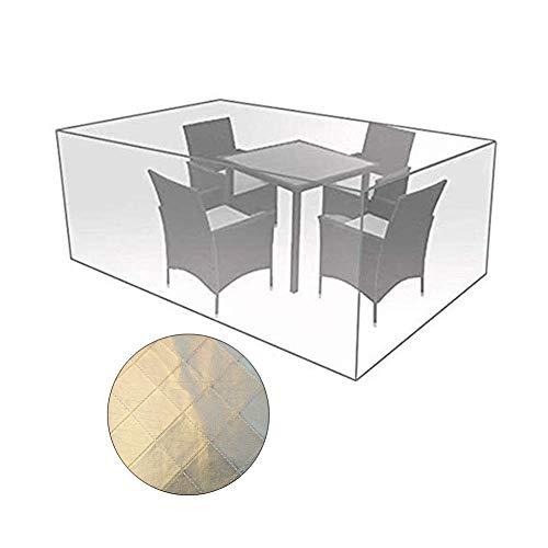 Zwysl copertura protettiva for giardino da esterno a prova di polvere protezione solare poltrone tavolo picnic telone protettivo, personalizzabile (color : a, size : 250×250×90cm)