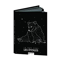 Bouchut – 1 Agenda giornaliera Constellation grande orso – da agosto 2019 a luglio 2020-12 x 17 cm
