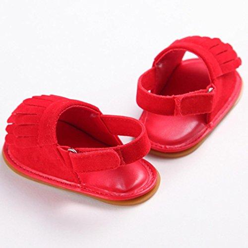 Omiky® Mode 2017 Kleinkind Mädchen Krippe Schuhe Neugeborene Blume Soft Sole Anti-Rutsch Baby Sneakers Sandalen Rot