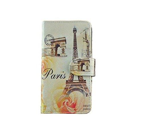 Design Handytasche Tasche für iPhone 6 6S Cover Etui Hülle Eifelturm Paris org