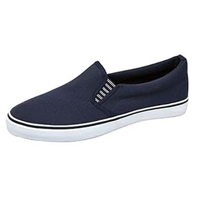Unisex Superlight Canvas Deck Shoes, Yacht Shoes. Navy Blue  11 UK / 46 EU