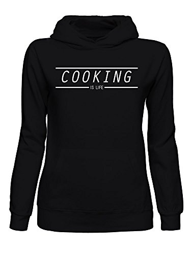 graphke Cooking is Life Kapuzenpulli für Damen Small