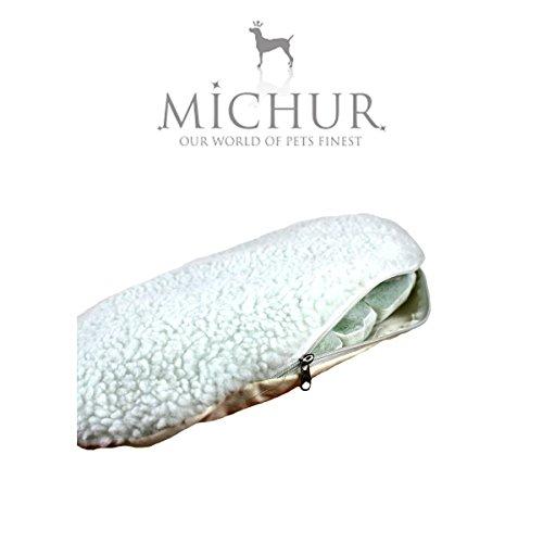 MICHUR RICHY, Katzenhöhle, Hundehöhle, Katzenkorb, Hundekorb, WEIDE, RATTAN, NATUR, ca. 55x39x43cm (Liegefläche ca. 40x28cm) - 8