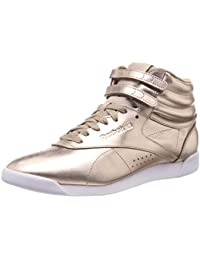 Reebok Freestyle Hi Metallic, Sneaker a Collo Alto Donna, Oro (Rose Gold/White/Silver Peony), 42.5 EU
