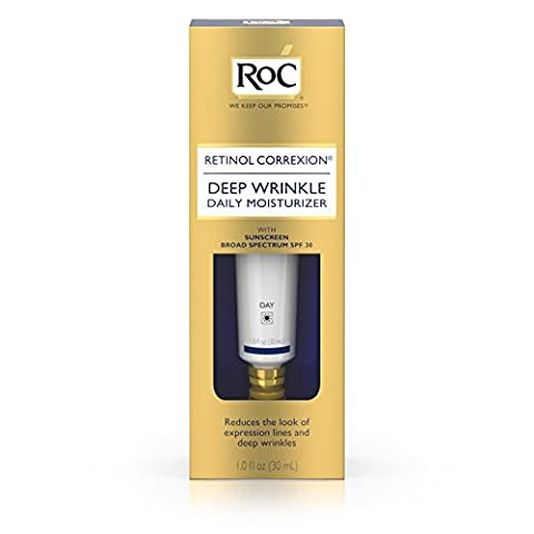 Roc Retinol Correxion Deep Wrinkle Treatment Daily Moisturizer With Sunscreen Broad Spectrum spf 30, 1 Oz.