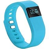 Tera® TW64 Pulsera inteligente deporte y salud para iOS Android Samsung Smartphone Resistente al Agua IP67 (azul)