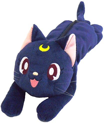 Sailor Moon Plüsch Tasche Beutel Federmäppchen: Katze Luna (Sailor Moon Luna Kostüm)