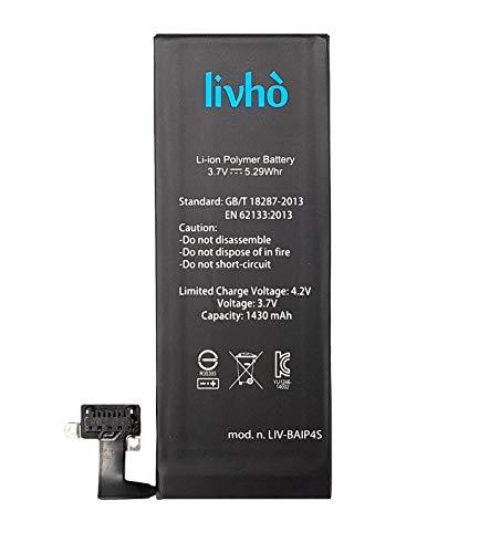 livhò Batterie de Remplacement Compatible avec iPhone 4S / Capacité 1430 mAh