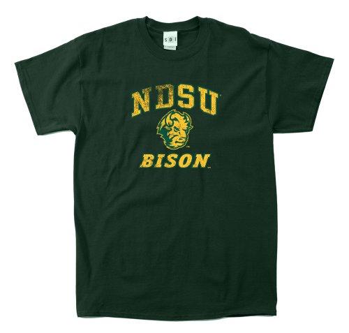 NCAA North Dakota State Bison 100Prozent, Vintage Maskottchen Short Sleeve Tee, Herren, Wald