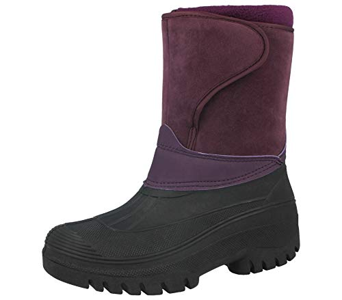 New Black Unisex Mens Ladies Horse Riding Yard Waterproof Stable Walking Rain Snow Winter Ski Wellies Wellington Wellys Warm Farm Mucker Boots All Sizes UK 4-11