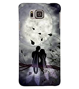 ColourCraft Angel Couple Design Back Case Cover for SAMSUNG GALAXY ALPHA G850