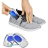 QERINKLE® Gel Heel cups Silicon Heel Pad for Heel Ankle Pain, Heel Spur Shoe Support Pad for Men and Women Shock Cushion Pad