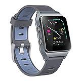 GPS Smartwatch avec 17 modes de sport, montre à écran tactile de piscine étanche IP68, suivi du sommeil par fréquence cardiaque avec compteur de calories par podomètre pour homme et femme (Bleu foncé)